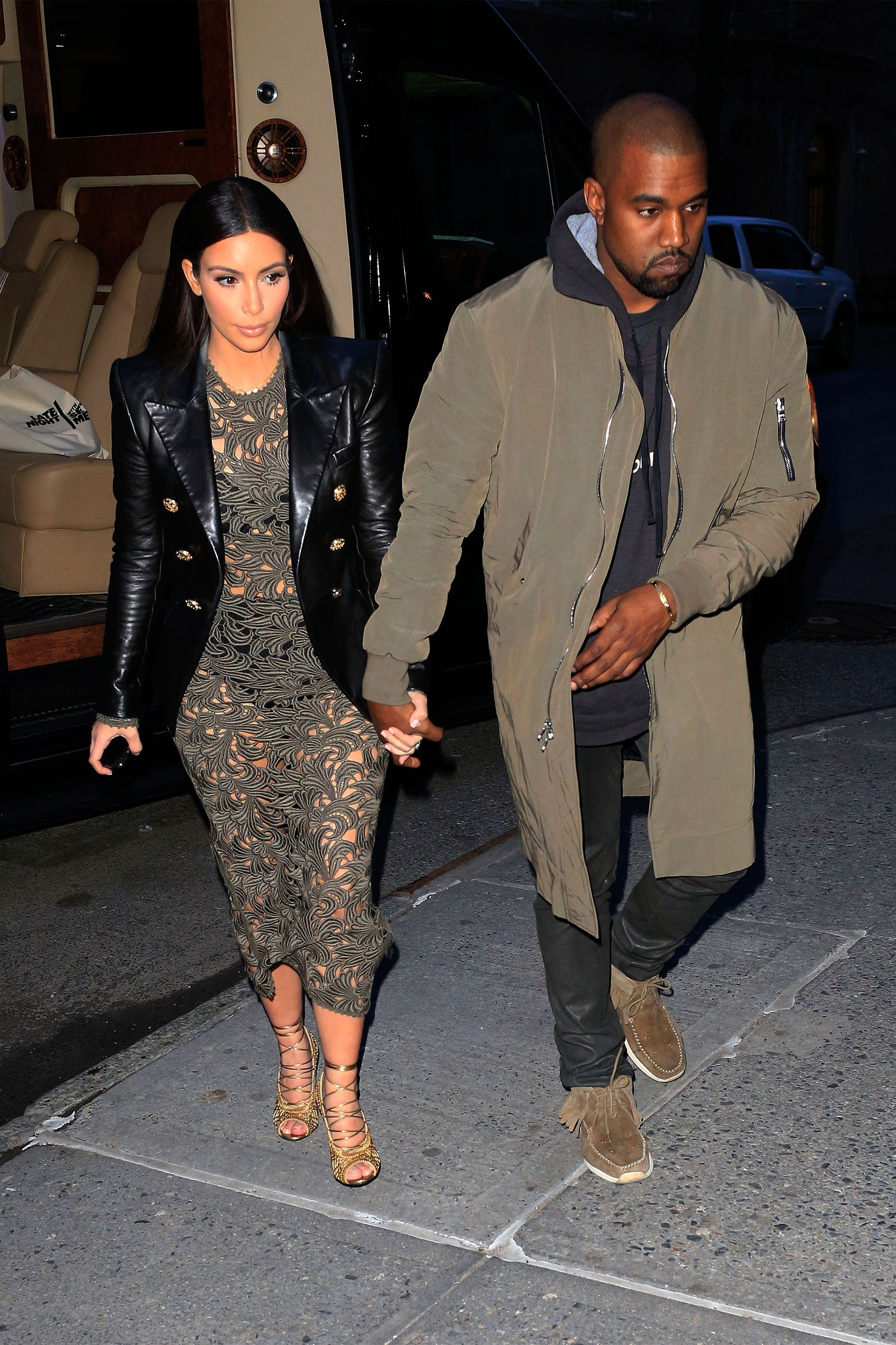 kim kardashian and kanye wests best matching outfits