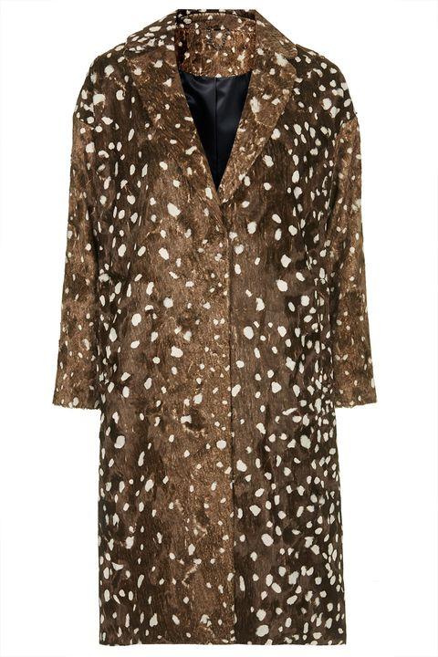 Brown, Product, Sleeve, Pattern, Textile, Collar, Fashion, Beige, Fashion design, Pattern,