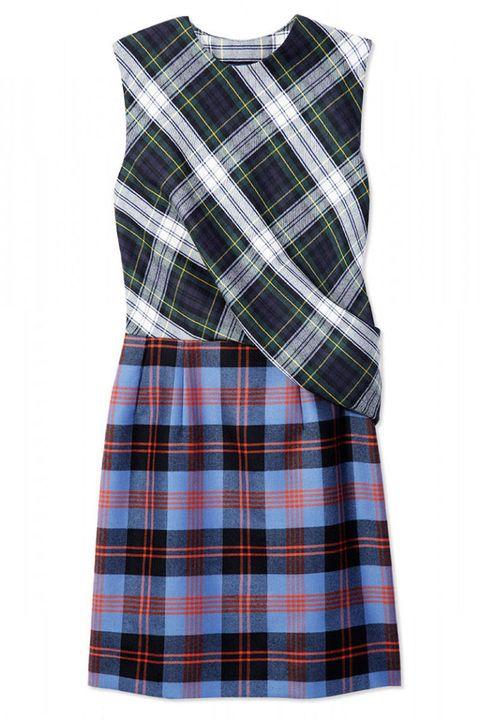 Clothing, Blue, Product, Pattern, Sleeve, Collar, Plaid, Textile, White, Tartan,
