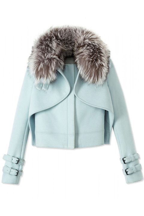 Jacket, Sleeve, Collar, Textile, Outerwear, White, Coat, Natural material, Fashion, Fur clothing,