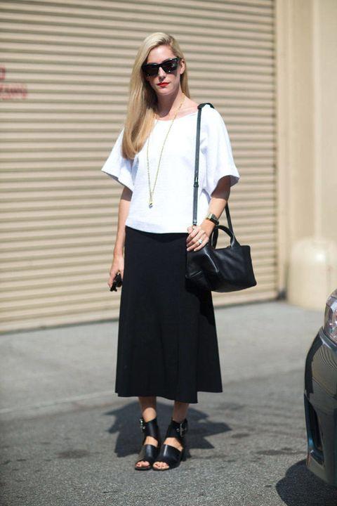 Clothing, Sleeve, Shoulder, Joint, Fashion accessory, White, Bag, Style, Sunglasses, Street fashion,