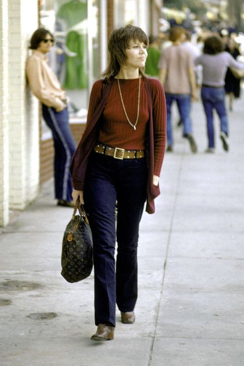 Clothing, Brown, Trousers, Denim, Jeans, Bag, Textile, Photograph, Standing, Outerwear,