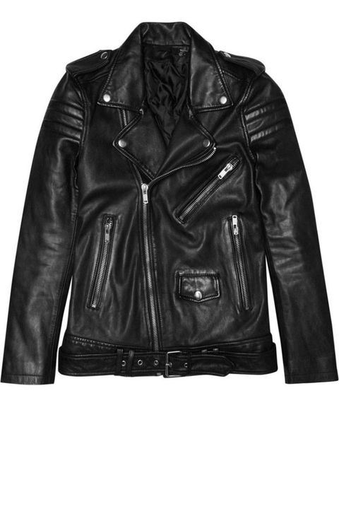 Jacket, Product, Sleeve, Textile, Outerwear, Style, Leather, Leather jacket, Fashion, Black,