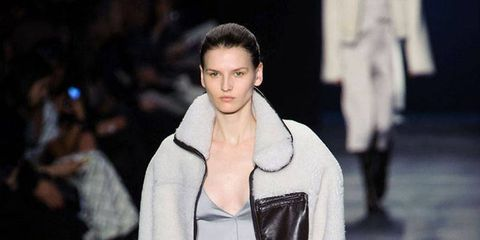 Clothing, Footwear, Fashion show, Shoulder, Runway, Joint, Outerwear, Fashion model, Style, Winter,