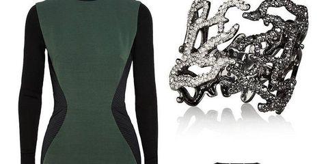 Sleeve, Collar, Pattern, Formal wear, Style, Dress, Fashion, Neck, Black, Blazer,