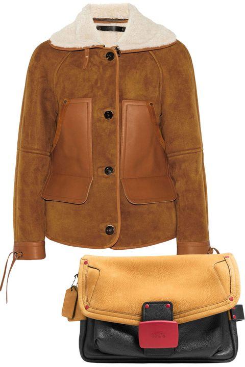 Product, Brown, Sleeve, Textile, Bag, Khaki, Jacket, Collar, Tan, Leather,