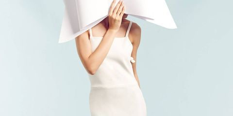Sleeve, Dress, Elbow, One-piece garment, Day dress, Paper, Paper product, Peach, Gown, Photo shoot,