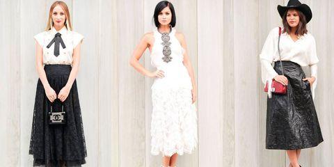 Clothing, Sleeve, Shoulder, Dress, Hat, White, Formal wear, Pattern, Style, Collar,