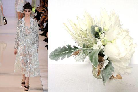 Petal, Bouquet, Flower, Dress, Fashion accessory, Cut flowers, Floristry, Flower Arranging, Flowering plant, Floral design,