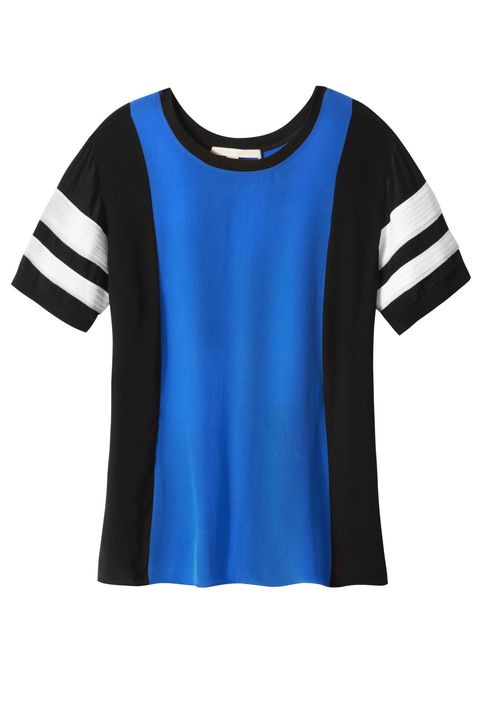 Blue, Product, Jersey, Sportswear, Sleeve, White, Collar, Uniform, Electric blue, Cobalt blue,