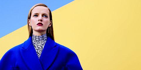 Blue, Sleeve, Collar, Electric blue, Blazer, Fashion, Cobalt blue, Fashion model, Fashion design, Makeover,