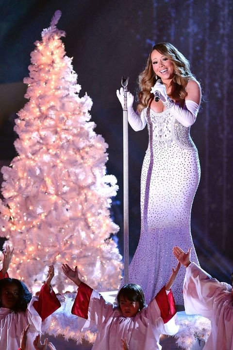 Event, Microphone, Winter, Dress, Formal wear, Christmas decoration, Holiday, Fashion, Performance, Christmas tree,
