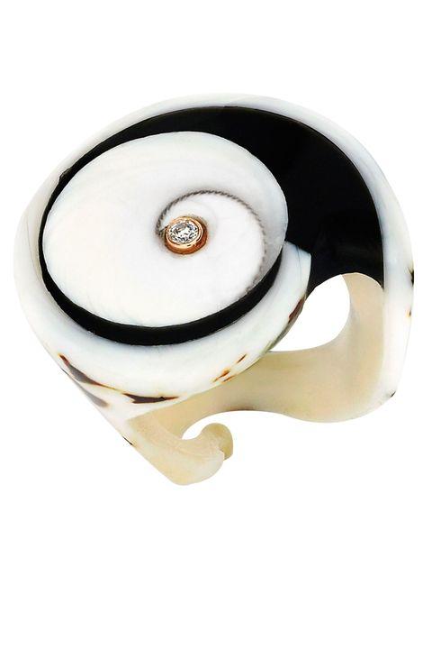 White, Beige, Circle, Button, Spiral,