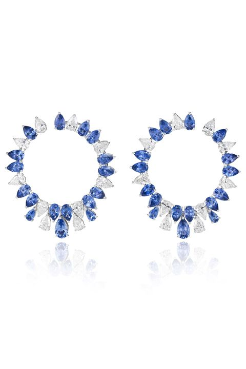 Electric blue, Cobalt blue, Body jewelry, Silver,