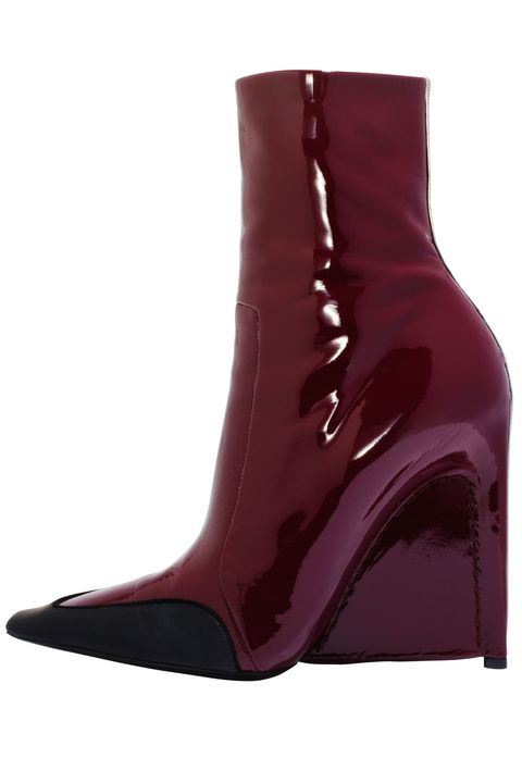 Footwear, Brown, Boot, Maroon, Leather, Carmine, Liver, Riding boot, Synthetic rubber,