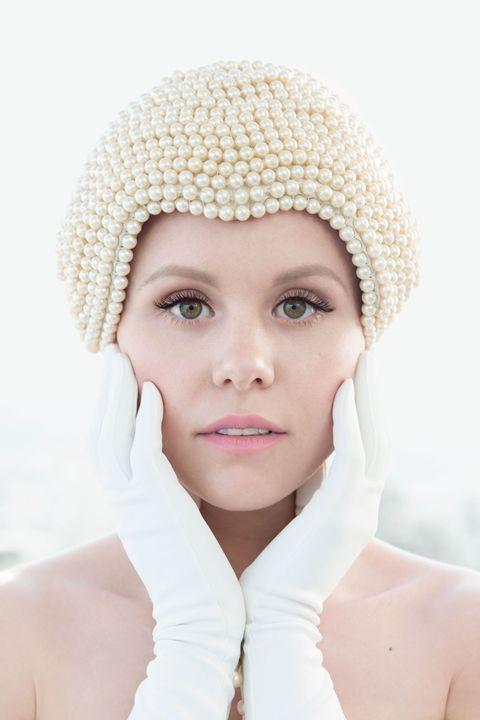 Lip, Cheek, Skin, Eyebrow, Textile, White, Eyelash, Headgear, Beauty, Photography,