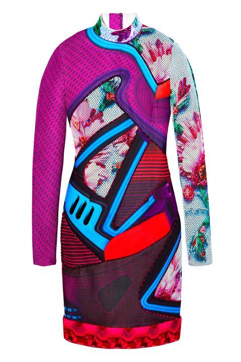 Sleeve, Textile, Pattern, Magenta, Red, Pink, Purple, Electric blue, Violet, Maroon,