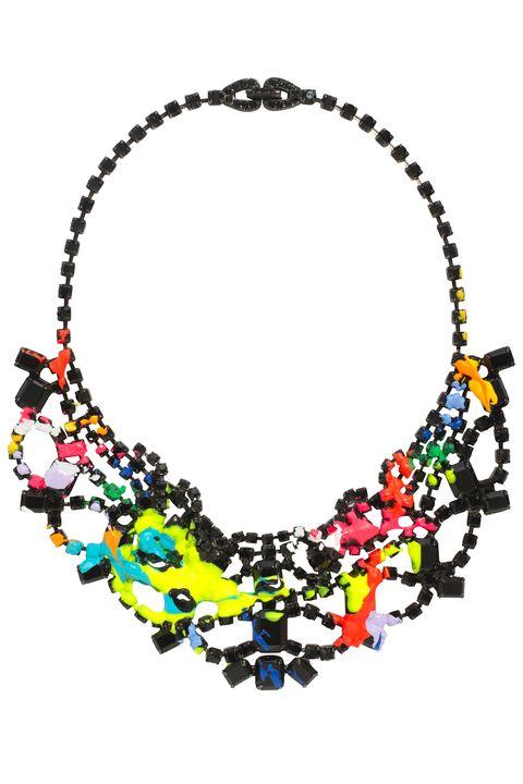 Yellow, Jewellery, Fashion accessory, Orange, Body jewelry, Creative arts, Natural material, Necklace, Craft, Jewelry making,