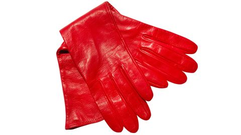 Safety glove, Red, Glove, Carmine, Coquelicot, Formal gloves, Natural material,