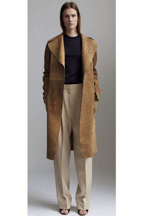 Brown, Sleeve, Khaki, Textile, Joint, Coat, Collar, Standing, Outerwear, Style,
