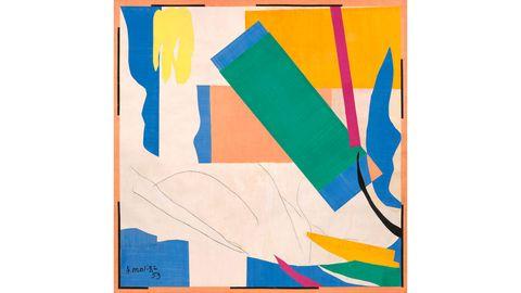 Blue, Colorfulness, Slope, Orange, Paint, Art, Aqua, Rectangle, Electric blue, Modern art,