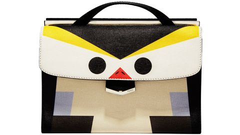 Yellow, Bag, Fictional character, Pattern, Beige, Luggage and bags, Shoulder bag, Shopping bag, Creative arts, Symbol,