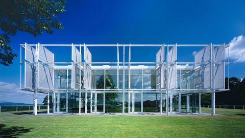 Transparent material, Lawn, Headquarters,