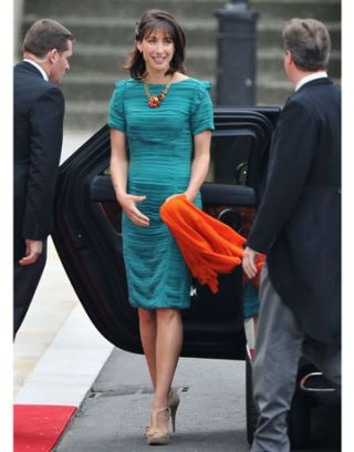 samantha cameron in burberry