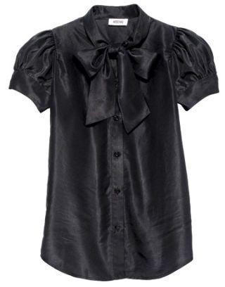 black moschino blouse