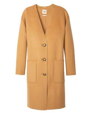 hermes camel coat