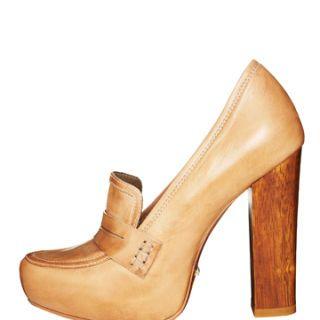 schutz heeled loafer