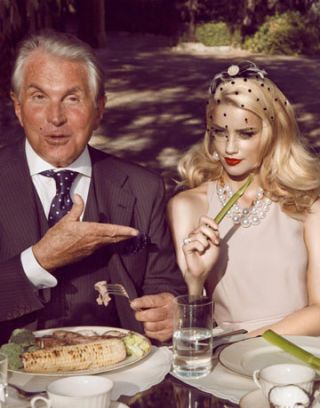 george hamilton and amber heard