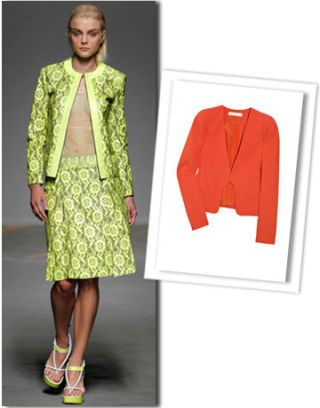 Clothing, Collar, Sleeve, Textile, Pattern, Red, Outerwear, Formal wear, Style, Blazer,