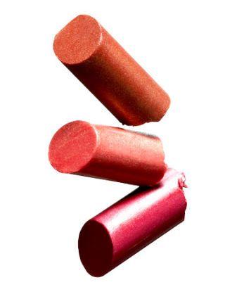 three colors of lipstick