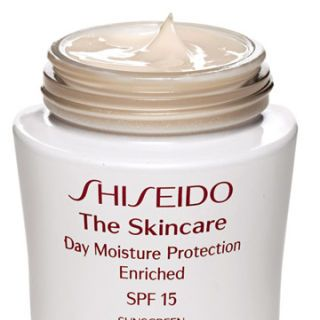 shiseido the skincare day moisture protection enriched spf 15 sunscreen
