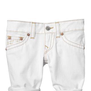 true religion white denim shorts