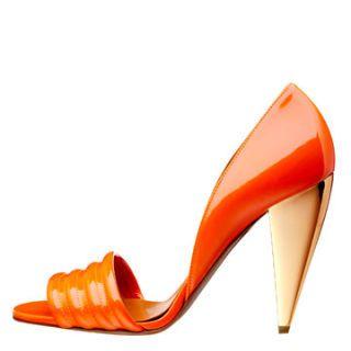 orange lanvin shoe