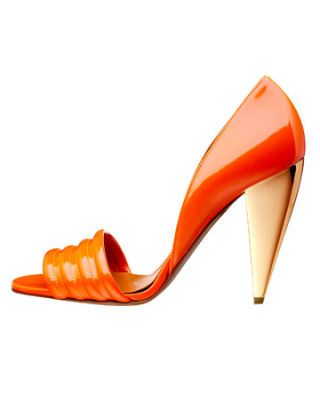orange lanvin shoe