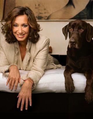 donna karan with her dog
