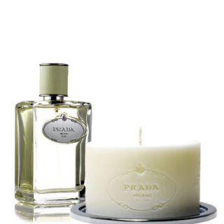 prada perfume and candles