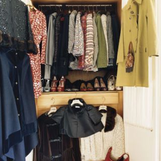 rosella jardinis closet filled with hermes bags and many vintage ysl and moschino pieces