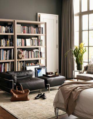 corner of derek lams master bedroom