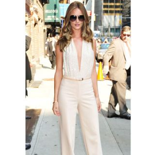 rosie huntington whiteley at the late show with david letterman