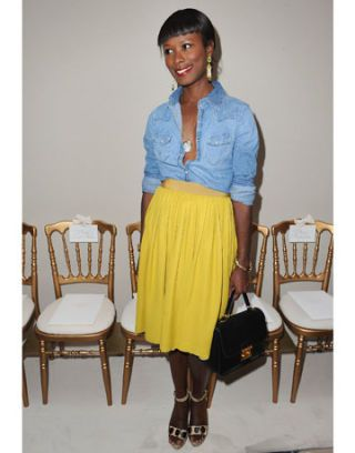 shala monroque in giambattista valli and the gap