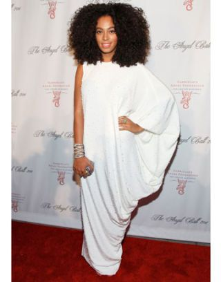 Solange Knowles in Alessandra Rich at the Angel Ball