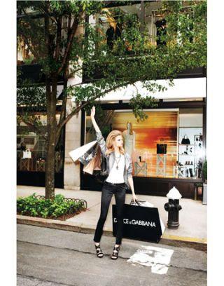 model in the street