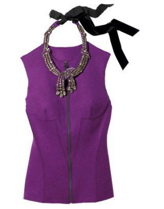 lanvin necklace and top