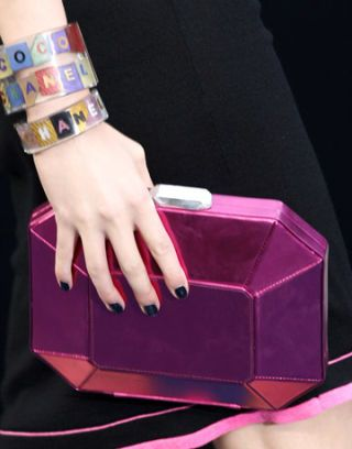 fuschia chanel clutch