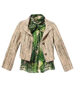 badgley mischka jacket and top