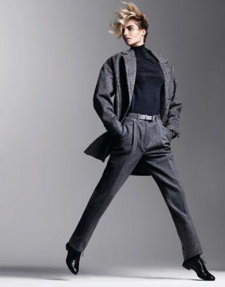 model in gray